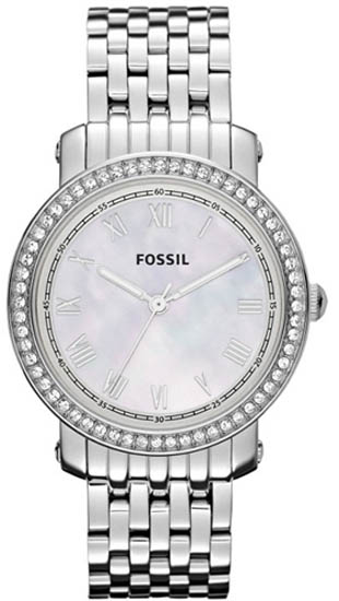 Stainless Steel Case and Bracelet Mother of Pearl Dial
