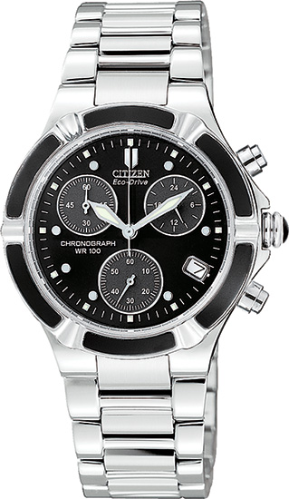 Citizen Stainless Steel Eco-Drive Riva Chronograph FB1030-59E