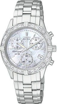 Citizen Eco-Drive Riva Chronograph Mother of Pearl with Diamonds FB1180-56D