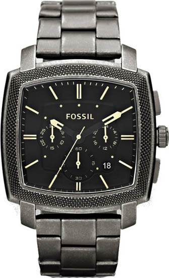 Stainless Steel Case and Bracelet Black Dial Chronograph