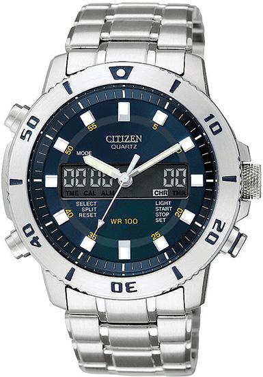 citizen jt303058l mens watch analog digital alarm