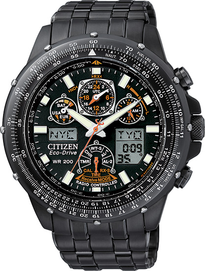 Citizen Skyhawk AT Multi-Band Atomic Eco-Drive Flight Chronograph JY0005-50E