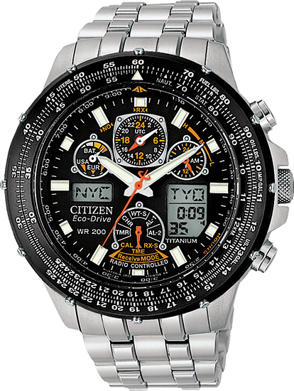 Citizen Titanium Skyhawk AT Multi-Band Atomic Eco-Drive Flight Chronograph JY0010-50E