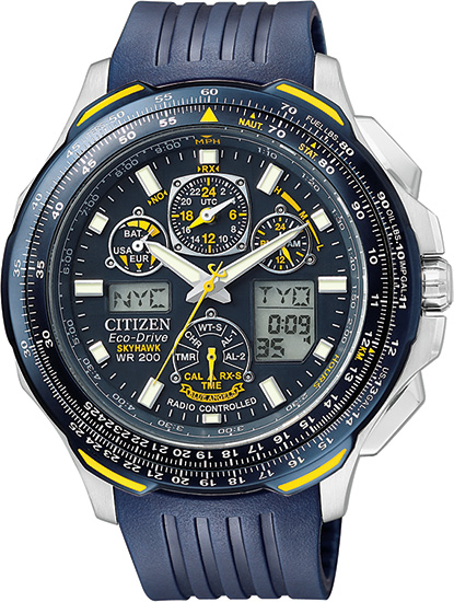 Citizen Skyhawk AT Blue Angels Multi-Band Atomic Eco-Drive Flight Chronograph JY0064-00L