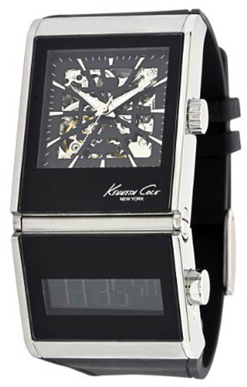 Kenneth Cole Dual Time Quartz Digital Automatic Black KC1749