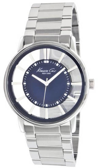 Kenneth Cole Stainless Steel Blue Dial Link Bracelet KC3993