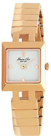 Kenneth Cole Gold Tone Stainless Steel White Dial KC4745