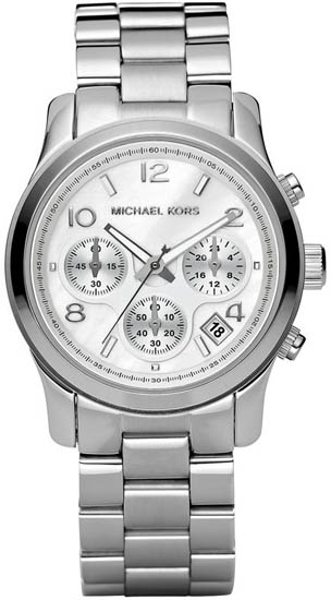 Michael Kors Stainless Steel Quartz Chronograph Mother Of Pearl at Sears.com