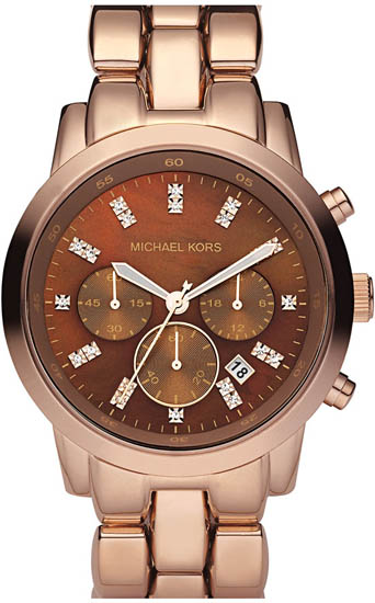 Michael Kors Rose Gold Stainless Steel Link Bracelet Quartz Chronograph MK5415