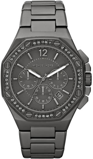 Michael Kors Black Stainless Steel Quartz Chronograph Crystal Black Dial MK5506