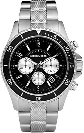 Michael Kors Black Stainless Steel Quartz Chronograph MK8174