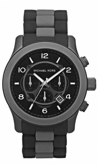 Michael Kors Black Silicone Strap Quartz Chronograph MK8201