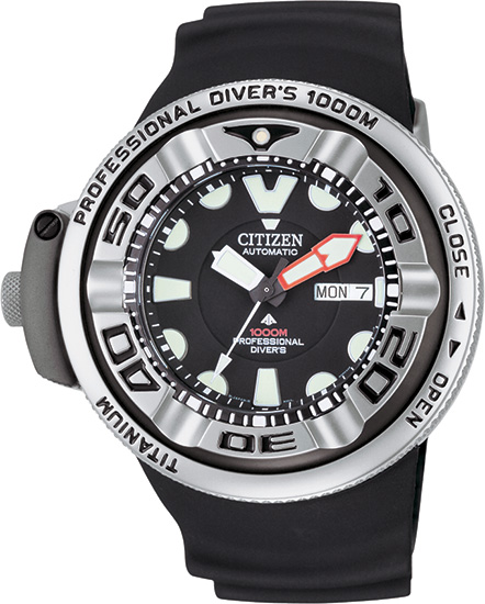 Citizen Automatic Titanium Professional Diver 1000M Strap NH6931-06E