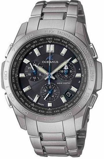35333b628a0 Casio OCW600TDA-1AV Mens Watch Titanium Oceanus Black Dial Atomic ...