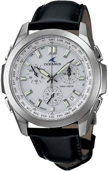 4882a07ec42 Casio Oceanus OCW600TLA-7AV Watch Click to Enlarge Tough Solar Watch. Casio  OCW600TLA-7AV Casio OCW600TLA-7AV Mens Watch Titanium Oceanus White Dial  Atomic ...