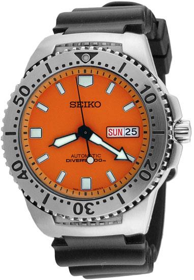 Seiko skxa51 mens watch 200m automatic diver watch orange - Orange dive watch ...