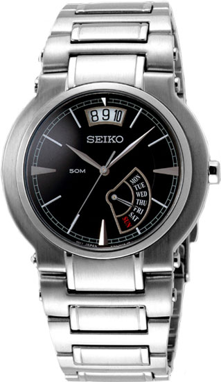 Seiko Premier SPQ001 Stainless Steel Dress Watch