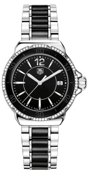 Tag Heuer Stainless Steel Black Ceramic Formula 1 Quartz Diamonds WAH1212BA0859
