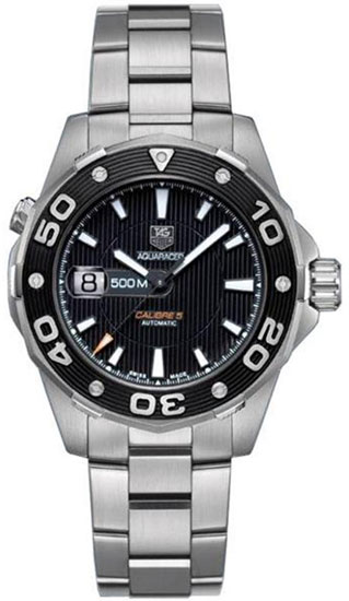 Tag Heuer Stainless Steel Aquaracer Black Dial WAJ2110BA0870