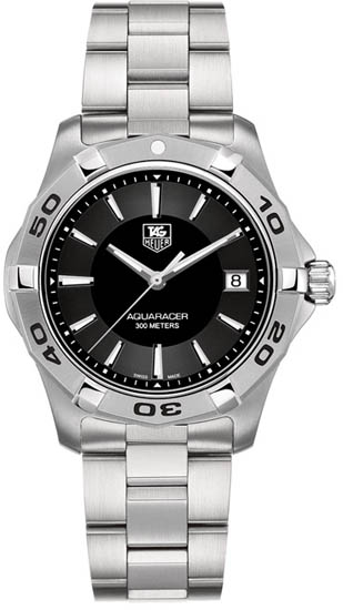 Tag Heuer Stainless Steel Quartz Aquaracer Black Dial WAP1110BA0831