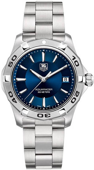 Tag Heuer Stainless Steel Quartz Aquaracer Blue Dial WAP1112BA0831