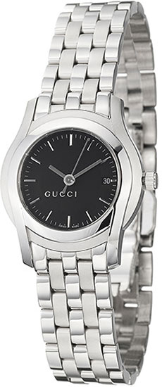 Gucci 5505 Series Stainless Steel Black Dial YA055518