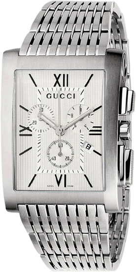 Gucci 8600 Series Chronograph Stainless Steel White Dial YA086310