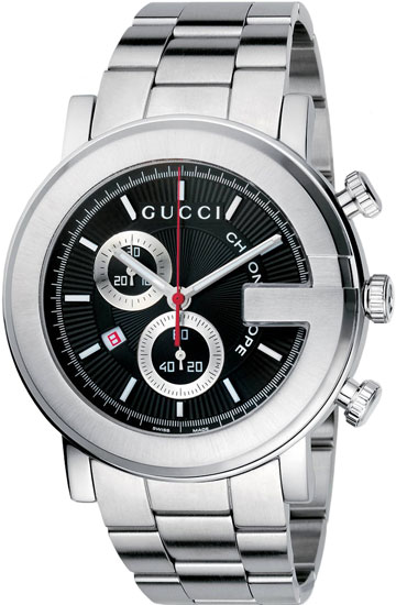 Gucci 101 Series Chronograph Stainless Steel Black Dial YA101309