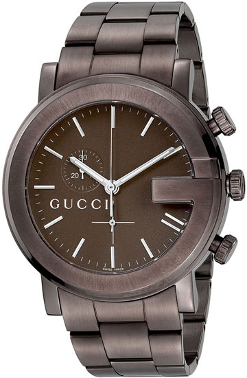 Gucci 101 Chronograph Brown Anodized Stainless Steel YA101341