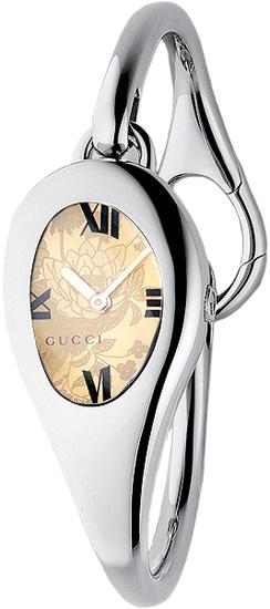1edf5158baf Gucci YA103522 Ladies Watch Horsebit 103 Series Floral Dial Large Bangle