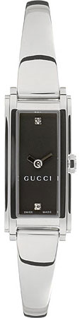 Gucci 109 Series Black Dial with Diamonds YA109518