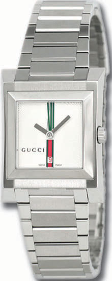 Gucci White Dial 111 Series Stainless Steel Link Bracelet YA111401
