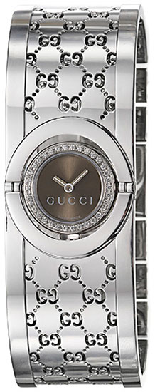 Gucci Series 112 Twirl Bangle Style with Diamonds YA112503