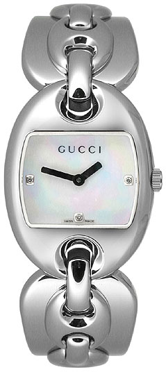 Gucci Stainless Steel With Mother Of Pearl Dial YA121504