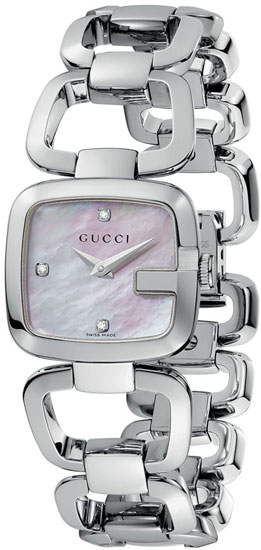 Gucci Stainless Steel G-Class Mother Of Pearl Dial YA125502