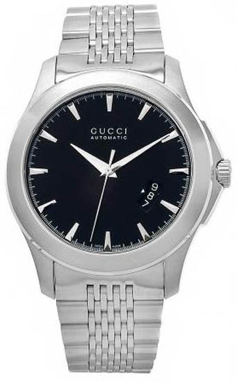 Gucci Timeless Stainless Steel Black Dial Automatic YA126210