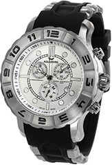 Aquaswiss 96XG005 Mens Watch Rugged Quartz Chronograph Black Rubber S>