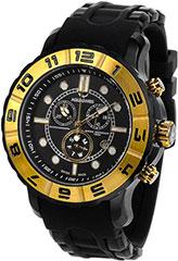 Aquaswiss 96XG037 Mens Watch Black Rugged Quartz Chronograph Black Di>