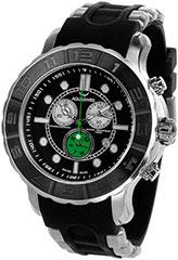 Aquaswiss 96XG053 Mens Watch Rugged Quartz Chronograph Black Dial Bez>