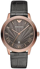 Armani AR1717 Mens Watch Classic Retro Rose Gold Tone Stainless Steel>