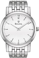 Bulova 96A115 Mens Watch Stainless Steel Link Bracelet Silver Tone Di>