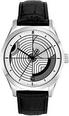 Bulova 96A129 Mens Watch Frank Lloyd Wright Hoffman House Silver dial