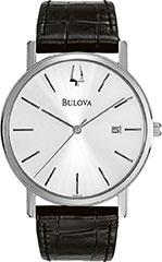 Bulova 96B104 Mens Watch Stainless Steel Dress Silver Dial