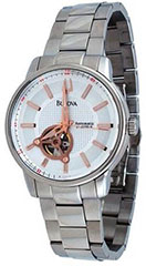 Bulova 96A143 Mens Watch Automatic Stainless Steel Case and Bracelet >