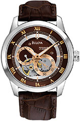 Bulova 96A120 Mens Watch Stainless Steel Automatic Rose Two Tone Brow>