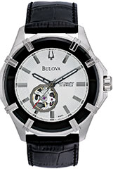 Bulova 96A123 Mens Watch Stainless Steel Skeleton Window Automatic Si>