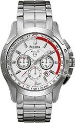 Bulova 96B013 Mens Watch Stainless Steel Marine Star Chronograph Silv>