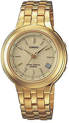 Casio LWQ120GA-9AV Ladies Gold Tone Atomic Executive Waveceptor Solar Watch, Free Shipping, Free Sizing
