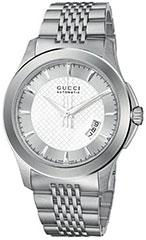 687e24b8f03 YA126209 731903240179 YA126210 YA126307 YA126215 YA126211. gucci ya126209 mens  watch timeless stainless steel silver dial automatic